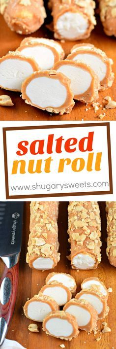 Salted Nut Roll is a candy store classic. You can make it at home, and give all your favorite people a homemade Christmas gift this year!