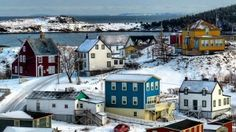 Trinity in winter. Beautiful Newfoundland and Labrador. Canadian Things, Canadian Art, The Places Youll Go, Places To Go, Newfoundland And Labrador, World View, Salt And Water, Beautiful Scenery, Canada Travel