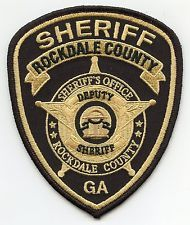 new style ROCKDALE COUNTY GEORGIA SHERIFF PATCH