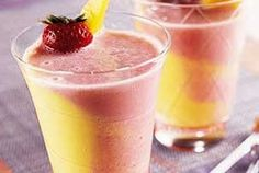 Enjoy the two-tone Mixed Fruit Smoothies. It looks nice as well as it's very luscious and nutritious.    Read more: http://www.fitnessrepublic.com/recipes/mixed-fruit-smoothies.html