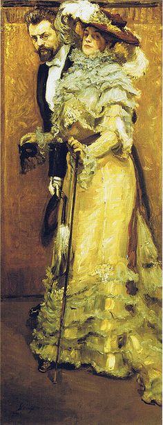 Max Slevogt:  Bal paré - Selbstbildnis mit Gattin (1904) by petrus.agricola, via Flickr