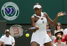 Venus, winning one of her 5 Wimbledon singles titles