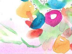 "AcEo Original Watercolor Ink ""Blooming"" 3.5""x 2.5""  #StudioB3Art #Abstract"