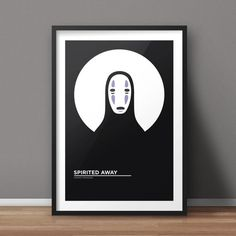 Spirited Away Poster, Movie Poster, Minimalist Poster, Flat Poster Design, Clean Poster Design, Digital Printable Poster