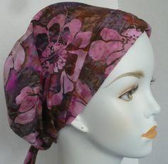 Beautiful Womens Batik Hand Dyed Cancer Hat Chemo Scarf Cap Head Wrap Alopecia Turban Hair Loss Headcovering Bad Hair Day