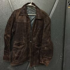 Original vintage Aviator Brown leather Jacket 1942? Jackets & Coats Utility Jackets