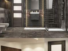 cold and rust Bathroom Fitters, Bathroom Interior, Bathroom Ideas, Contemporary, Modern, Bathtub, Interior Design, Mirror, Furniture