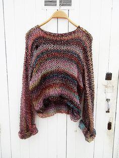 Women sweater knitwear knitted sweater casual by armarioenruinas