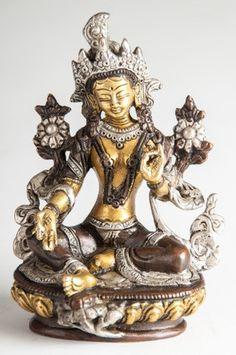Grüne Tara aus Messing - 14 cm Buddha Figures, Messing, Ebay, Image, Buddha Buddha, Tibet, Material, Decoration, Products