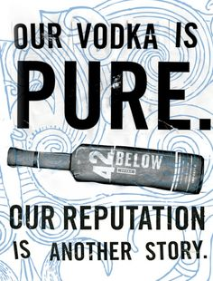 Наша водка чиста. Наша репутация - совсем другая история