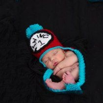 sleeping baby in a dr. seuss hat @jcpenney