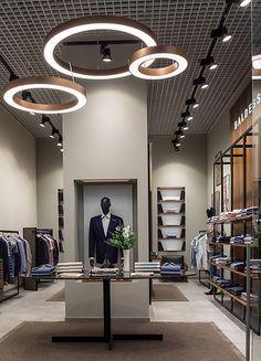 Fashion retail in 2019 Store Interiors, Rustic Interiors, Office Interiors, Clothing Store Interior, Clothing Store Design, Wallpaper Colour, Design Light, Boutique Interior Design, Showroom