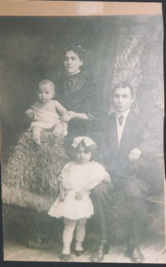 Abraham and Annie Dubin with two of their  children. The Dubins are recorded as living in 97 during the 1910 census, and had 11 people living in one apartment at that time. One of their sons, Louis, was born in the building in 1908.