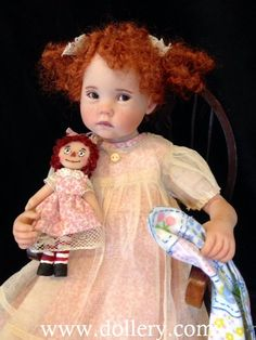 Julie Fischer Dolls OMG I love this doll and her hair color!