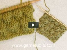In this DROPS video we show how to knit a sailor bobble pattern. It's fun and decorative! This is what we did on our chunky sample of 21 sts. Fair Isle Knitting Patterns, Knitting Blogs, Easy Knitting, Knitting Stitches, Knit Patterns, Start Knitting, Knitting Tutorials, Learn To Crochet, Diy Crochet