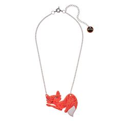 This ultra cute necklace from Australian designer Erstwilder is the perfect way to add some animal attraction to your outfit! The Mimi The Foxy Minx Necklace features an adorable wily fox pendant crafted from luxe orange resin with a splash of pure white on her tail, suspended from an elegant silver chain. All of Erstwilder's jewelry is hand crafted in Melbourne, Australia, in a limited run that makes them highly collectible! Add a little flair to your favorite Trashy Diva outfit when you…