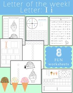 [vc_row][vc_column you busy teaching your toddler / preschooler the letters of the alphabet? Make sure you add these fun worksheets to your curriculum! These worksheets not only help teach the letters of the alphabet but they also have focuses on: . Letter I Activities, Fall Preschool Activities, Preschool Letters, Learning Letters, Learning Activities, Kids Learning, Letter I Crafts, Letter J, Teaching Letter Sounds