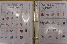 digraphs, final stable syllables, etc chart.