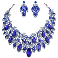 EVER FAITH Women's Austrian Crystal Enamel Graceful Vine Necklace Earrings Set ** Continue to the product at the image link. (This is an affiliate link) #JewelrySets