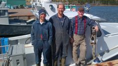Three generations of lobster fishing Jollimores on Prince Edward Island.