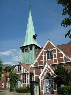 Kirche in Bergedorf, Deutschland (Germany) - suburb of Hamburg.