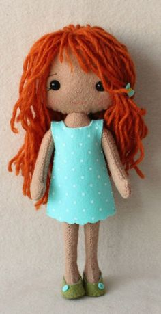 Pocket Poppets are fun and easy to make and measure about 8.5 inches tall.