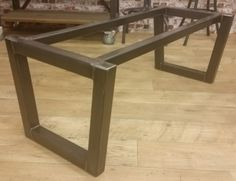 Aluminum Trestle Table Base Custom Fabricated By Black 39 S Farmwood Metal Tables Bases