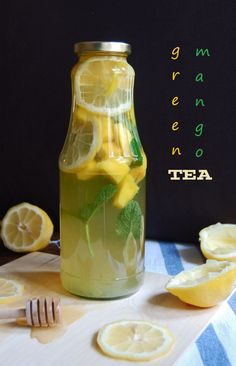 Homemade Iced Green Mango Tea