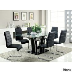 @Overstock.com.com - Ziana Contemporary 7-piece Rectangular Tempered Glass Table Dining Set - Contemporary casual dining great for any existing modern decor. Equipped with a 72-inch tempered glass dining table, this dining set is accompanied with six dining chairs dressed in soft padded upholstery and is poised to complement any home.  http://www.overstock.com/Home-Garden/Ziana-Contemporary-7-piece-Rectangular-Tempered-Glass-Table-Dining-Set/8373050/product.html?CID=214117 $1,245.99