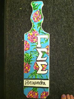 paddles flowers greek paddles sorority paddles flowers 21st paddle
