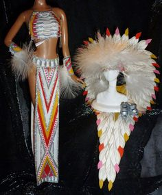 Barbie Doll Model Muse 70s Cher Half Breed Native American Headress Ensemble Lot | eBay