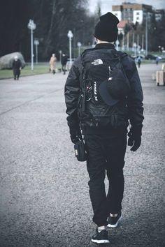 Urban Techwear #techwear all Black sneakers beanie men Style tumblr