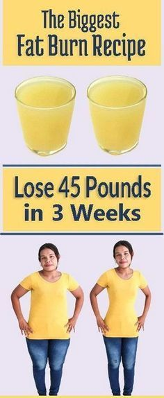 Amazing Fat Burn Recipe for Lose Weight 45 Pounds in 3 Weeks