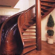 Soo cool! I want a slide staircase