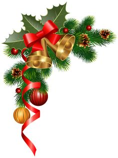 Christmas Corner Decoration PNG Clipart Image