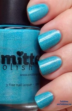 ThatGalJenna - Smitten Polish Review and Swatches - Himalayan Blue Poppy
