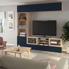 Die kombination mit der tv-bank bestå geben in ihr zuhause und bieten stauraum für die elemente, die sie benötigen, um spiele zu spielen (e. D. Diese dinge aus den augen... Können sie ihre bevorzugten artikel nur zu zeigen. All-in-one-tolle kombination. Tv Ikea, Tv Storage, Storage Spaces, Tv Bank, Bibliotheque Design, Living Room Tv Unit Designs, Ikea Living Room, Living Rooms, Tv Cabinets