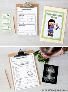 Printables for Vet Clinic Dramatic Play area   Early childhood play ideas   Imaginative play for Toddlers, Preschoolers, Kindergarten and Foundation students   Printable signs, labels and forms for early writing and play in the classroom or at home   Australian teachers and parents  