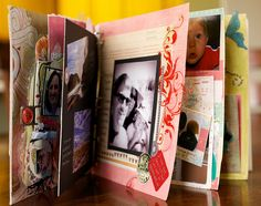 This is a circle journal. What's a Circle Journal? It's a themed mini-book that you give to a circle of friends. Each person contributes a page to your book. Liz Ness started this awesome circle journal group. Journal Prompts, Art Journals, Journal Inspiration, Journal Ideas, Scrapbooking Layouts, Scrapbook Pages, Circle Of Friends, Junk Art, Smash Book