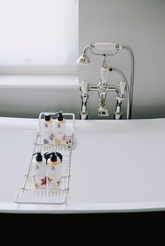This serene bathing moment is from the Artist Residence boutique hotel, with a Catchpole and Rye bath and accessories.