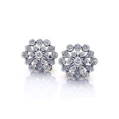 Searching for Diamond Spray Earrings? If so, you may want to see our beautiful spray earring styles created in America by the artisans at Jewelry Designs. Diamond Studs, Diamond Rings, Jewelry Box, Fine Jewelry, Jewellery, Conflict Free Diamonds, Fashion Earrings, Jewelry Design, Stud Earrings