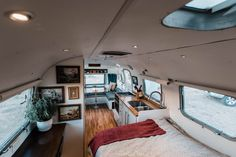 Husband and wife photographers living and traveling full-time in their DIY renovated Airstream Overlander. Before and after RV renovation project.