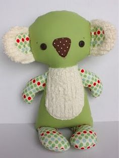 stuffed koala bear pattern | via bit of whimsy dollscutest koala plush! buy the pattern to benefit ...