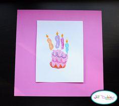 Handprint birthday cake