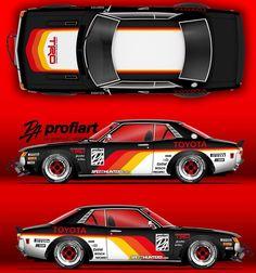Racing Car Design, Bmw Autos, Toyota Auris, Toyota Mr2, Street Racing Cars, Futuristic Cars, Car Drawings, Trd, Car Painting