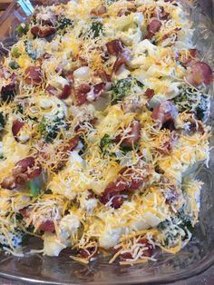 Loaded Broccoli and Cauliflower Bake