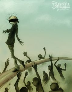 Creepy Illustrations by Dholl-Art http://www.cruzine.com/2013/06/05/creepy-illustrations-dhollart/