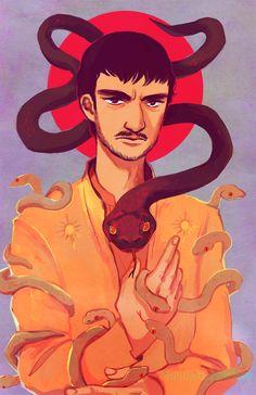 "Cool Oberyn Martell fan art by feyuca  feyuca: "" feyuca: "" the Red Viper of Dorne "" my dornish hottie (・∀・ ) """