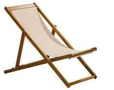 Debenhams Acacia wood ´Panama´ garden deck chair