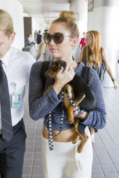 Miley Cyrus , cute dog